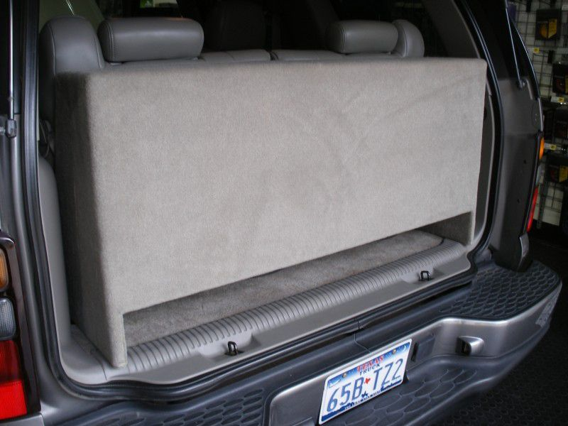 GMC Yukon Sub Box Downfire GMC Yukon Subwoofer Box Downfire | Wichita Falls, TX | (940) 767-1800